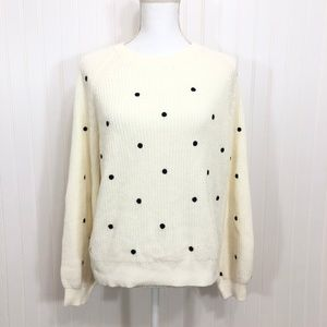 Lucky Brand Polka Dot Pullover Sweater Size M